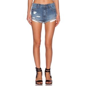 RVCA | Hatchet distressed cutoff shorts